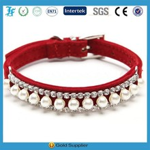 Hot sell high quality velvet puppy dog necklace collar pet accessories