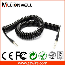 new design high quality 3.5mm spring audio cable
