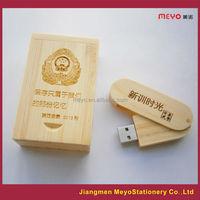 2015 Logo Custom Advertising Wooden USB Flash Drive