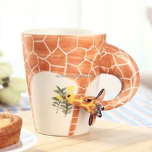 Hand paint animal coffe Giraffe mug