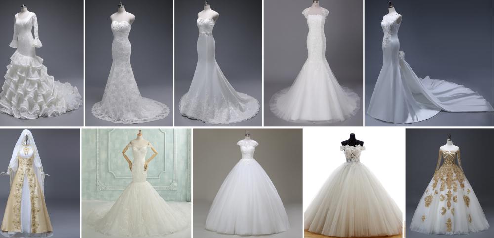 Asa-45 Real Sample High Neck Bridal Wedding Dresses Mermaid Vintage ...