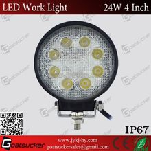 wide 24w led work light/round led light toyota fortuner accessories