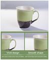 taza de cerámica pintada a mano