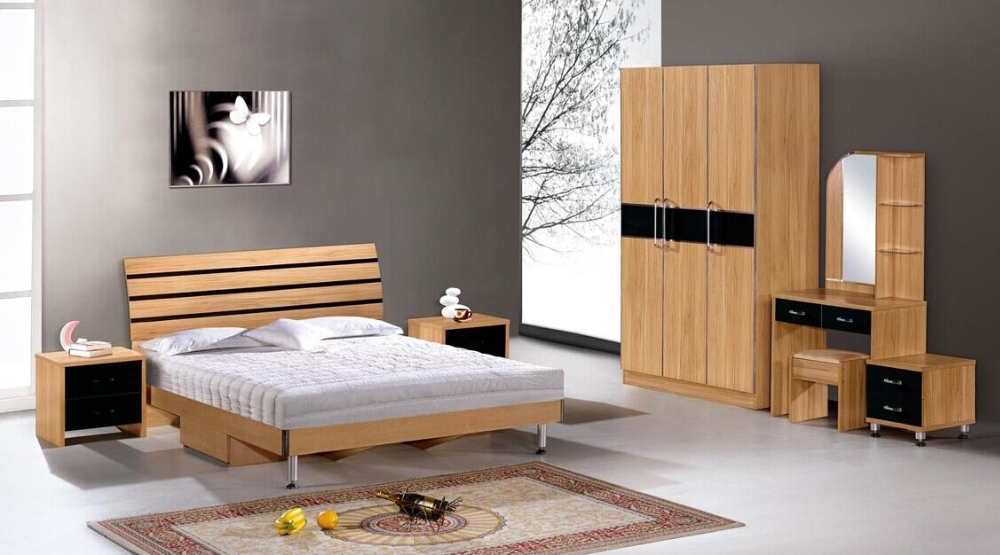 High quality cheap hotel furniture wooden bed hotel room for Cheap high quality furniture