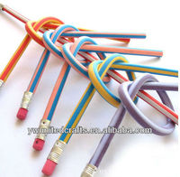 hot sale multi color rubber flexible pencils creative pencils magic pencils
