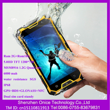 "5.0"" IPS S8 4G ip68 waterproof android mobile phone 1280*720 MSM Quad core 2G+16G waterproof shockproof phone NFC GPS BDS"