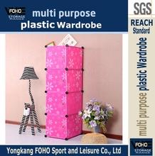 Al0017-4 4 cubos coloe peach montar de plástico dobrável closet roupeiros e organizador do armário armários