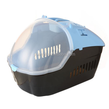 Pet carrier blue air conditioned pet carrier for dog cat rabbit puppy small animals