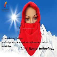 6in1 Warm Fleece Hood Face Cover Cap/Knit Hats/Motorcycle Balaclava Neck Warmer fabric face mask balaclava