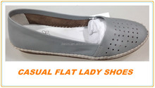 2015 summer women leather flat shoes in stock cheap leather shoes low price factory price