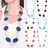 New Arrival Fashion Statement Seed Beads Pendant Choker Long Necklace For Women