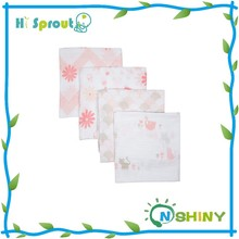 Fashion Print Bright Orange Cotton Muslin Swaddle Blanket