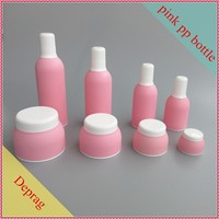 2015 new plastic pp type Korean spa cosmetics container,luxurious cosmetic packaging,skin care set bottles