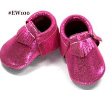 Baby Moccasins - Leather Tassels Infant Toddler Pre-walker Crib Shoe (Pink) (6-12 month)
