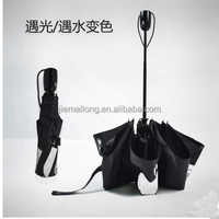 2015 hot sell new ANTI- UV When Wet when sunshien Change Color magic folding umbrella