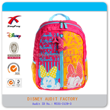 Manufacture lovely mickey minnie mouse kid bag backpack