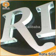 Espejo acrílico letras, 3D letras acrílicas, monograma acrílico