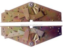 Mechanism click clack, sofabed hinges