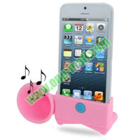 Super Cheap Wholesale Loud Speaker Horn Design with Holder Stand Speaker for iPhone 5 & 5S