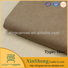 wholesale 100 cotton 16oz coffee colored dyed fabric canvas for handbag