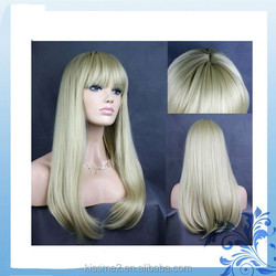 2015 Factory price best quality lady's fashion heat resistant synthetichair extension wigs