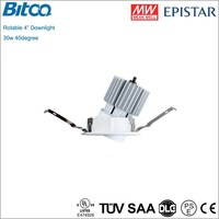 360degree adjustable recessed 4inch LED downlight