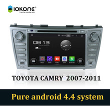Android 4.4 pure 3g wifi car dvd stereo player with bluetooth gps for Toyota camry 2007-2011