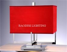 2014 baodisi contemporáneo de acero inoxidable moderno lámparas de mesa decoracion led