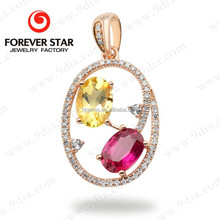 2015 Guangzhou New China Products for Sale 18kt Light Weight 1 Gram Gold Jewellery