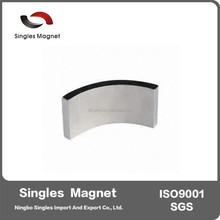 High Quality Sintered Neodymium arc motor magnets with N35H, N35SH