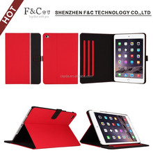 book style folio Ultra Thin Stand PU Leather Smart Case Cover for ipad mini 4 leather case