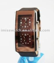 MOQ 500 /leather band /water resistant /ladies unique fashion wrist watch