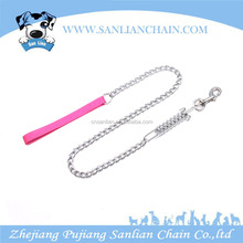 Heavy Duty Chain lead with Spring Dog Lead With nylon Handle