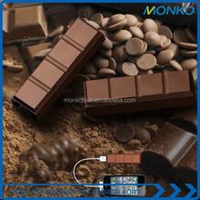 2600mah Portable Customized Logo Chocolate Power Bank USB mobile charger