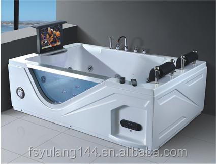 ad-613big größe doppel badewanne mit tv und armlehne jcuzzi, Hause ideen