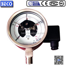 "4"" stainless steel electric contact pressure gauge with alarm and other pressure gauge"
