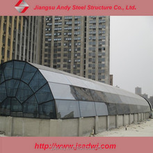 Tempered glass roof