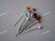 Colored ball head pin for jewelry findings
