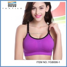BuYu 2015 Nylon Spandex girls Seamless Underwear Sexy Sport Bra for girl