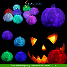 Colorful Pumpkin Light Halloween Lamp Prop Bedside Table Party Decoration