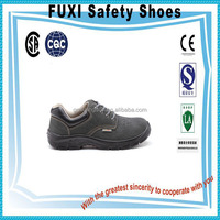 hard-wearing army green suede cow leather engineering working safety shoes L24-1