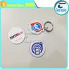 MIFARE ntag213 nfc key tags/13.56mhz plastic rfid key fobs with metal ring