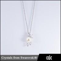 CDE Latest Design Flower Jewelry Beaded Pendant Necklace