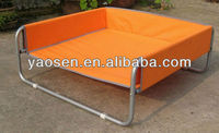 orange metal frame dog bed