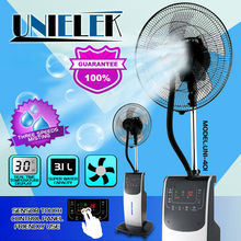 2015 new fashion design water evaporative cooling fan water cooler spray misting nozzles mist fan