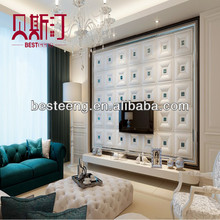 Artistic 3D leather wall panel,PU leather panel,3d faux leather tiles