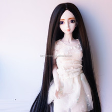 new arrival super long silky straight black doll wig