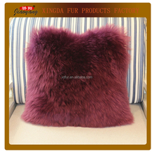 Single-Sided Lamb Fur Throw Pillow