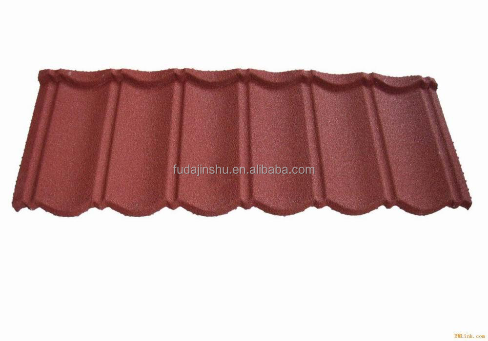Colorful stone coated metal roofing tile (factory)