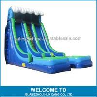 2015 Hot Big Top Inflatable Slide,Commercial Inflatable Wet Dry Slide